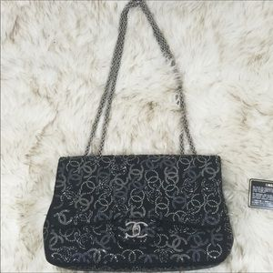 Chanel Strauss Jumbo Pudong embellished flap bag